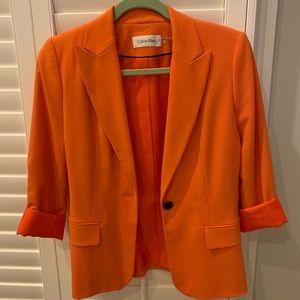 Women's Calvin Klein Orange Blazer